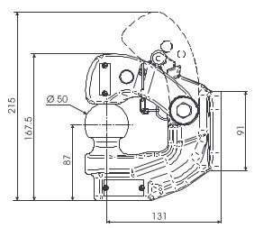 DE00711 Kugelkopfkupplung 50 90mm