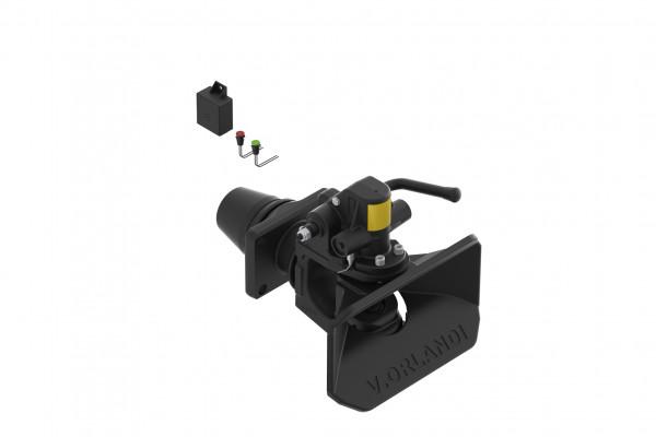 E525A1M 50mm Anhängekupplung, 160x100mm (Handh. aufw.) mit Fernanzeige und Lampe Grün (Default)