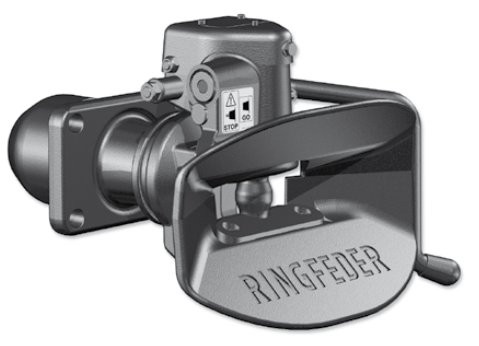 4040/G145 B 40 mm Anhängekupplung 140 x 80 mm Handhebel abwärts