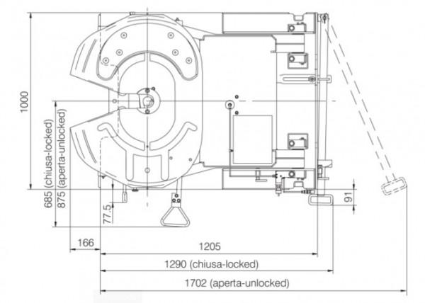 FDHG001 FDH Hubsattelkupplung Standard Schmierung 2 Zoll