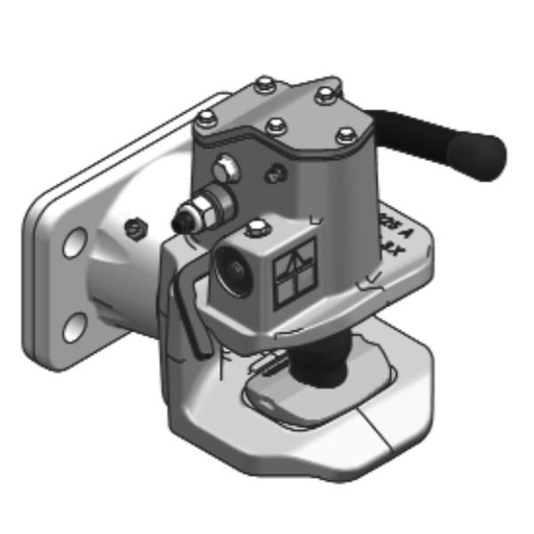 IH38A3 40mm Anhängekupplung 120x55mm (Handh. aufw.)