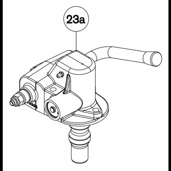 RG00353 Automatikeinheit Handhebel aufwärts für Fernanzeige