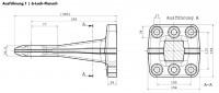 Z0411 40 mm Flanschzugöse 8-Loch Bestell-Nr. 30000801