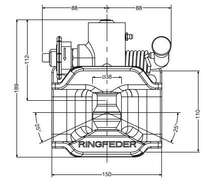 2025 SK mA 40mm Anhängekupplung mit Auslösehebel 120x55mm