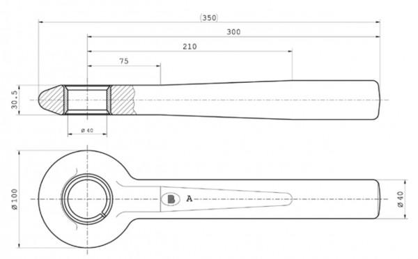Z-010 40 mm Rundschaftzugöse (geschlitzte Buchse) Bestell-Nr. 30000970