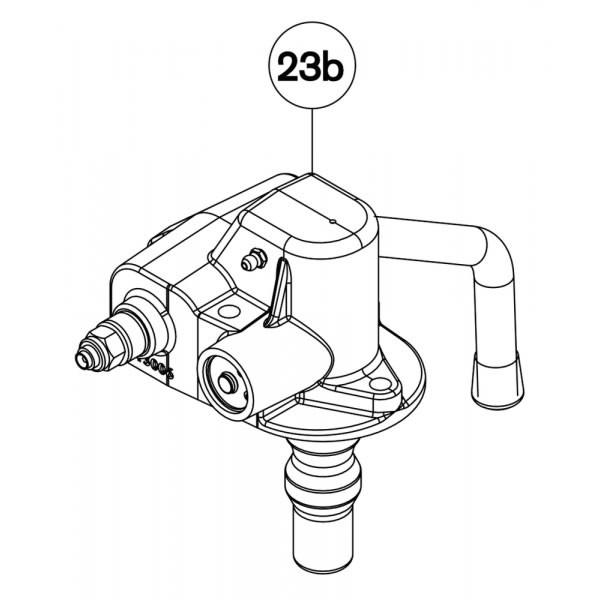 RGG0353 Automatikeinheit Handhebel aufwärts für Fernanzeige