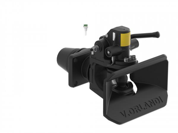 E525A6M 50 mm Anhängekupplung 160 x 100 mm Handhebel aufwärts mit Fernanzeige/Lampe
