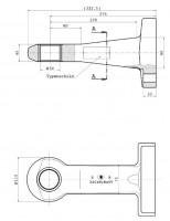 Z-044 50 mm Flanschzugöse (ungeschlitzte Buchse) Bestell Nr. 30000890
