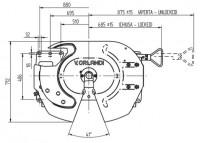 RP10-GT Sattelkupplung Bauhöhe 150mm Standard Schmierung 2 Zoll