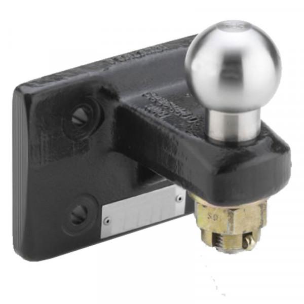 DE00600G Kugelkopfkupplung 50 mm mit 4-Loch Flansch 120 x 55 mm