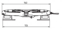 RP10-GT Sattelkupplung Bauhöhe 185mm Standard Schmierung 2 Zoll