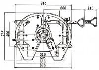 RS08 Sattelkupplung Bauhöhe 185mm Standard Schmierung 2 Zoll