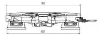 RP90 Sattelkupplung Bauhöhe 250 mm Standard Schmierung 3,5 Zoll